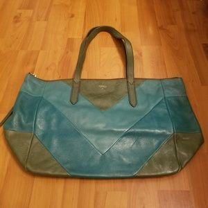 Fossil multicolored green shoulder bag